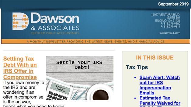 Dawson September Newsletter