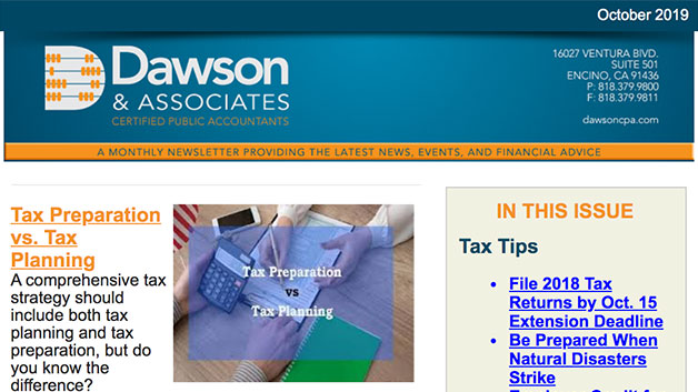 Dawson October Newsletter