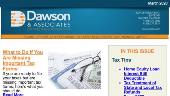 Dawson CPA Newsletter