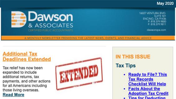 Dawson CPA Newsletter May 2020