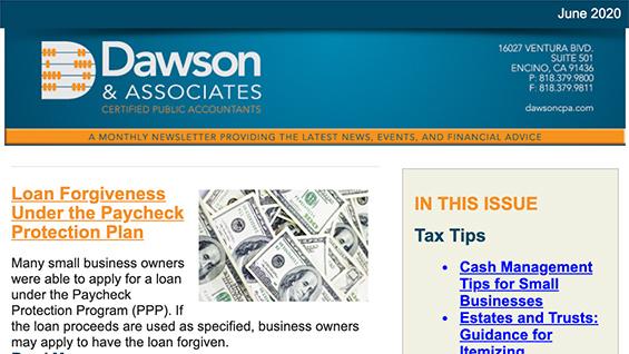 Dawson CPA June Newsletter