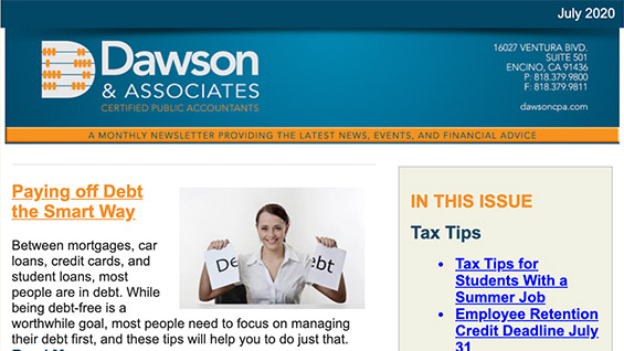 Daswon CPA July Newsletter