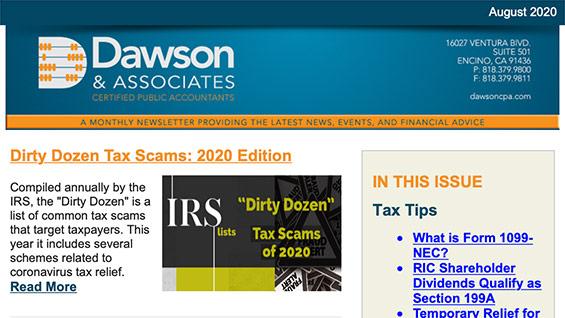 Dawson August Newsletter