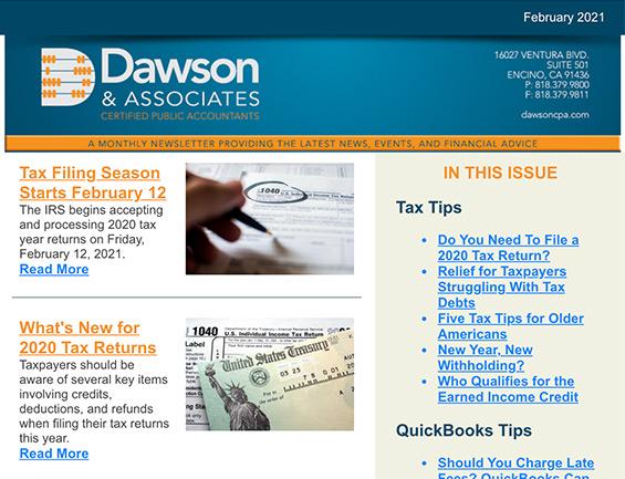 Dawson CPA February Newsletter