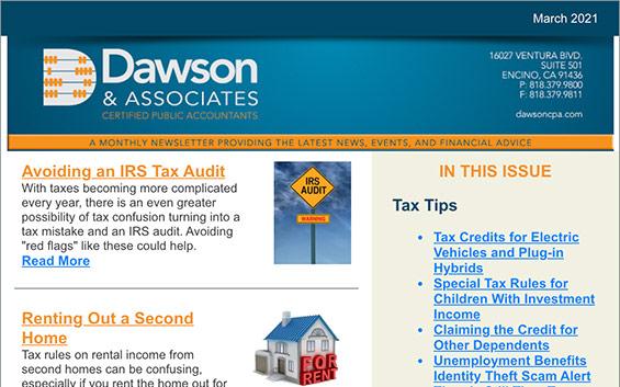 Dawson CPA March Newsletter