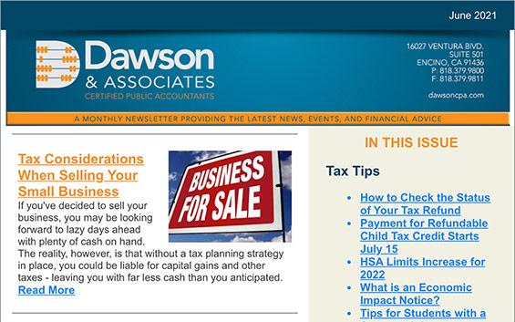 Dawson CPA Newsletter June 2021